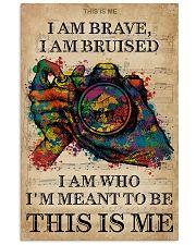 Vintage Music I Am Brave Pride Camera 11x17 Poster front