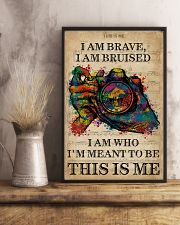 Vintage Music I Am Brave Pride Camera 11x17 Poster lifestyle-poster-3