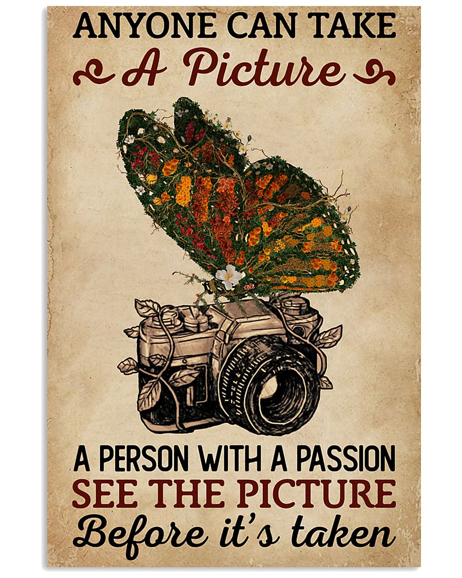 Anyone Can Take A Picture Camera Butterfly 11x17 Poster