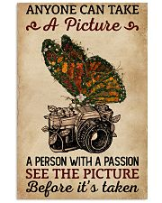 Anyone Can Take A Picture Camera Butterfly 11x17 Poster front
