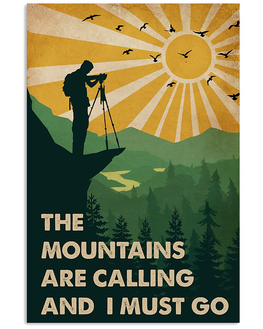 Vintage The Mountain Are Calling Photography 11x17 Poster