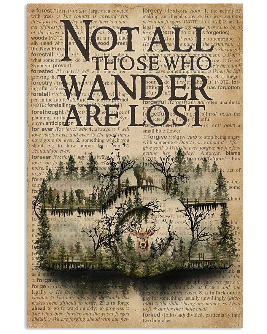 Vintage Dictionary Wander Are Lost Forest Camera 11x17 Poster