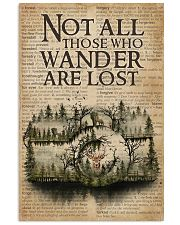 Vintage Dictionary Wander Are Lost Forest Camera 11x17 Poster front