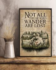 Vintage Dictionary Wander Are Lost Forest Camera 11x17 Poster lifestyle-poster-3
