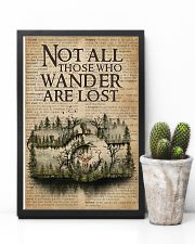 Vintage Dictionary Wander Are Lost Forest Camera 11x17 Poster lifestyle-poster-8