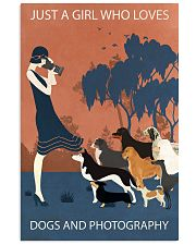Vintage Girl Loves Dogs And Photography 11x17 Poster front