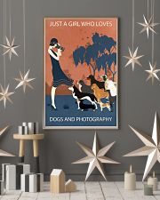 Vintage Girl Loves Dogs And Photography 11x17 Poster lifestyle-holiday-poster-1