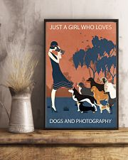 Vintage Girl Loves Dogs And Photography 11x17 Poster lifestyle-poster-3