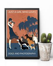 Vintage Girl Loves Dogs And Photography 11x17 Poster lifestyle-poster-8