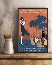 Vintage Girl Once Upon Time Cats And Photography 11x17 Poster lifestyle-poster-3