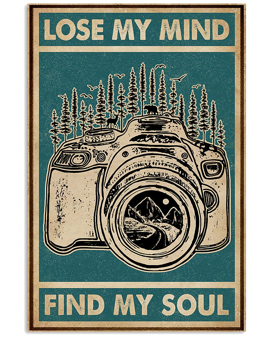 Retro Green Lose My Mind Camera 11x17 Poster