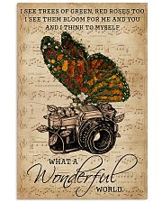 Music Sheet Wonderful World Camera Butterfly 11x17 Poster front