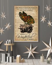 Music Sheet Wonderful World Camera Butterfly 11x17 Poster lifestyle-holiday-poster-1