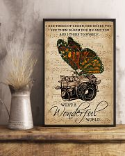 Music Sheet Wonderful World Camera Butterfly 11x17 Poster lifestyle-poster-3