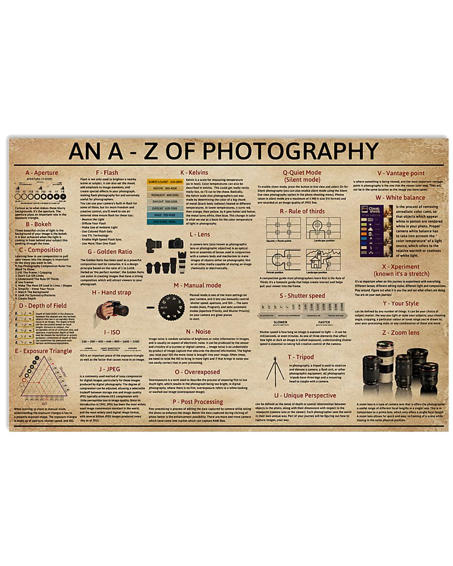 An A - Z Of Photography 17x11 Poster