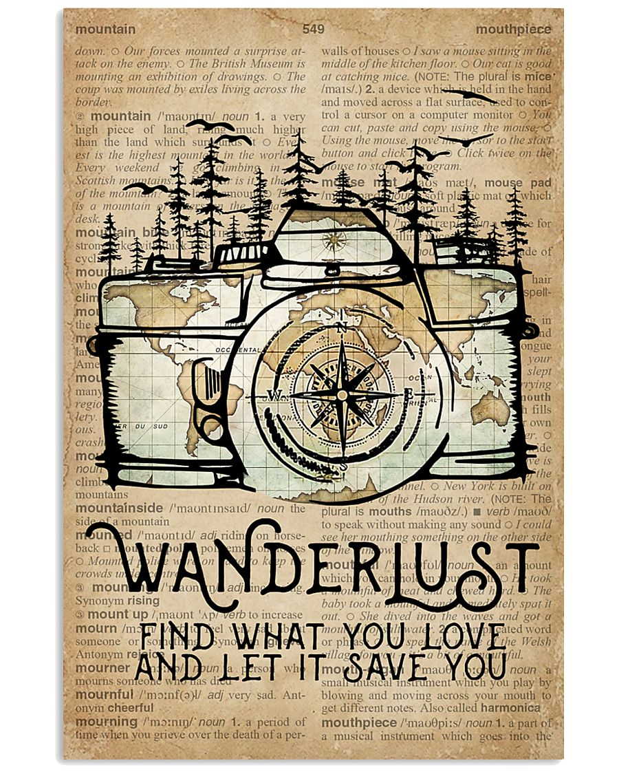 Wanderlust Camera Mountain 11x17 Poster