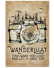 Wanderlust Camera Mountain 11x17 Poster front