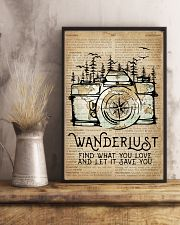 Wanderlust Camera Mountain 11x17 Poster lifestyle-poster-3
