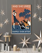 Vintage Girl Dogs Lived Happily Photography 11x17 Poster lifestyle-holiday-poster-1