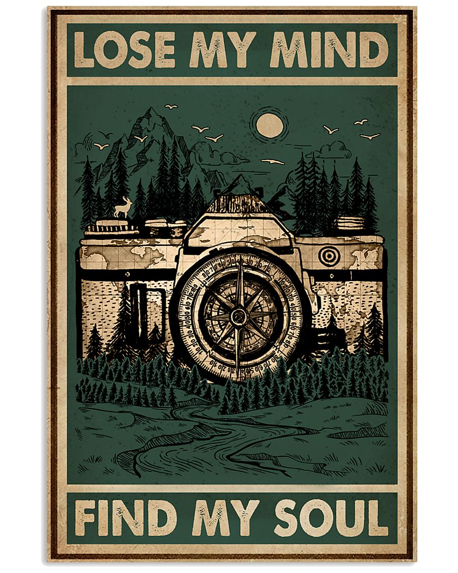 Retro Green Find My Soul Camera 11x17 Poster
