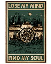 Retro Green Find My Soul Camera 11x17 Poster front