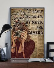 Easily Distracted By Music And Camera 16x24 Poster lifestyle-poster-2