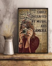 Easily Distracted By Music And Camera 16x24 Poster lifestyle-poster-3