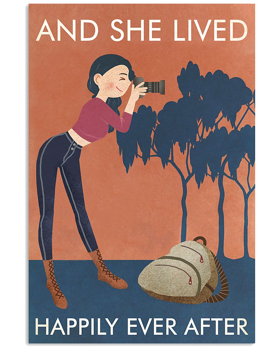 Vintage Orange And She Lived Photography 11x17 Poster