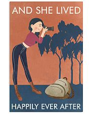 Vintage Orange And She Lived Photography 11x17 Poster front