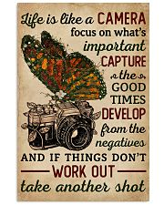 Life Is Like A Camera Butterfly  11x17 Poster front