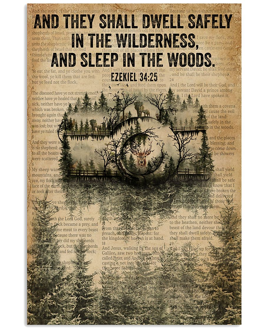 Forest Bible Sleep In The Woods Camera 11x17 Poster