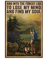 Vintage And Into The Forest Photography Dogs Girl  16x24 Poster front