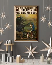 Vintage And Into The Forest Photography Dogs Girl  16x24 Poster lifestyle-holiday-poster-1