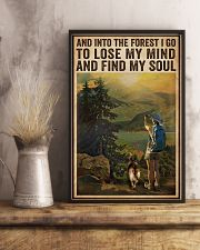 Vintage And Into The Forest Photography Dogs Girl  16x24 Poster lifestyle-poster-3