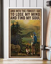 Vintage And Into The Forest Photography Dogs Girl  16x24 Poster lifestyle-poster-4
