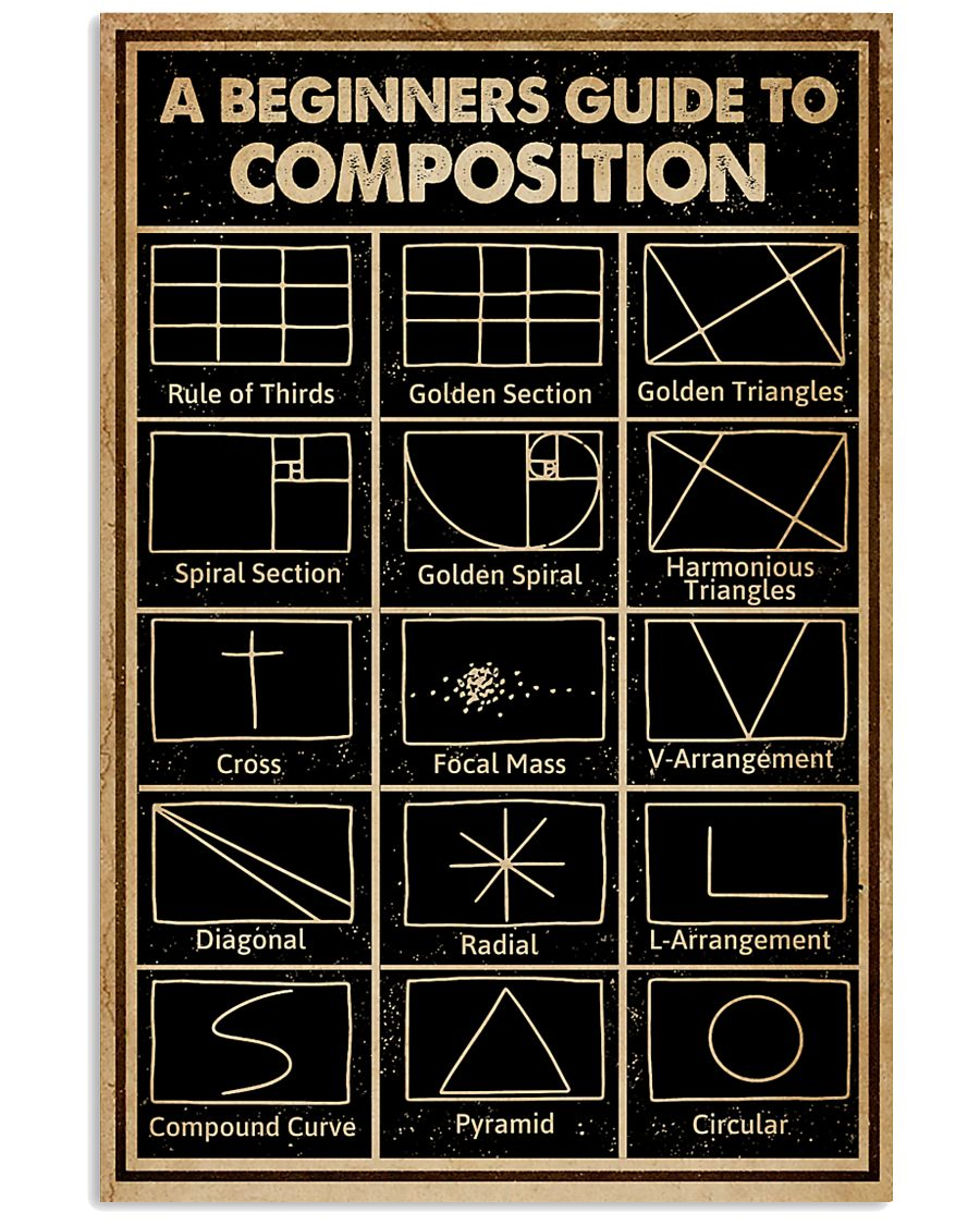 Black A Beginners Guide To Composition Photography 16x24 Poster