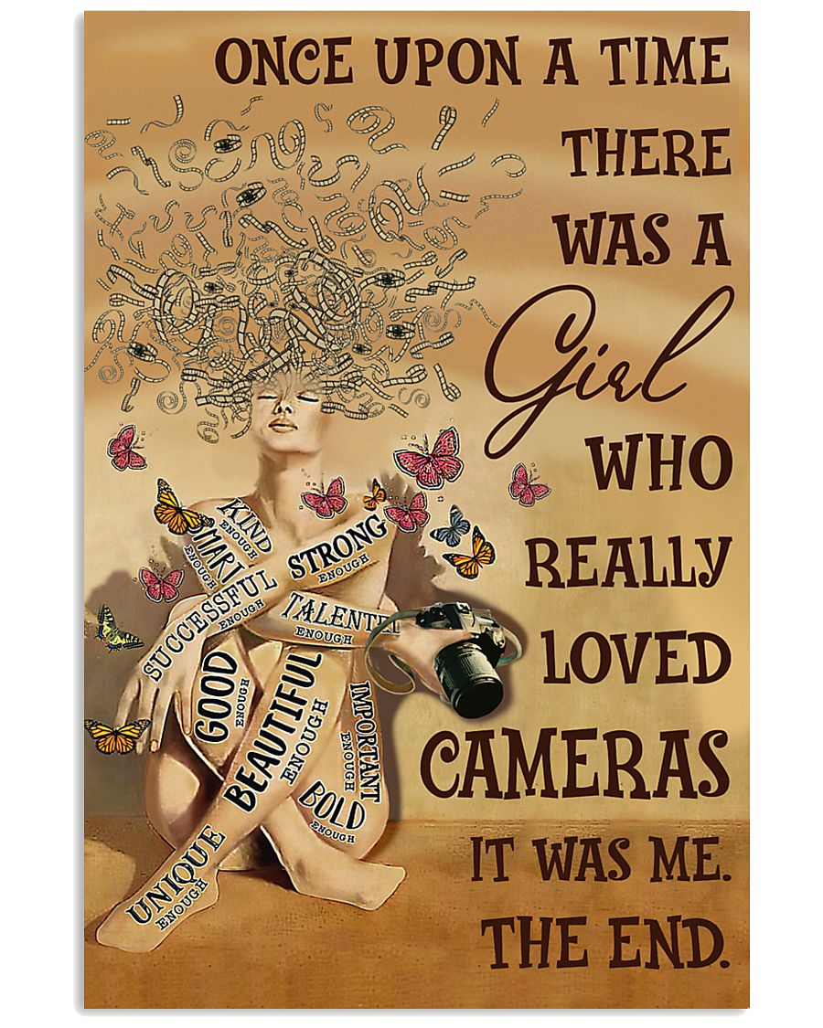 Once Upon A Time Girl Loved Cameras 16x24 Poster