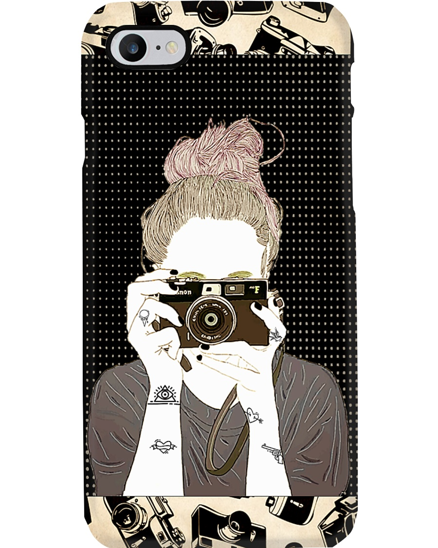 Tattooed Girl Taking Picture Phone Case