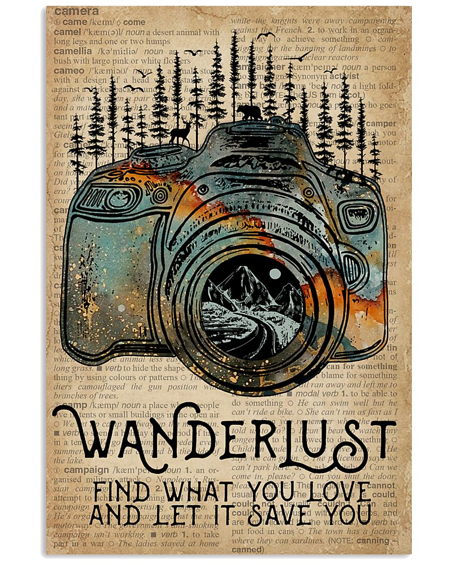 Blue Earth Dictionary Wanderlust Camera 11x17 Poster