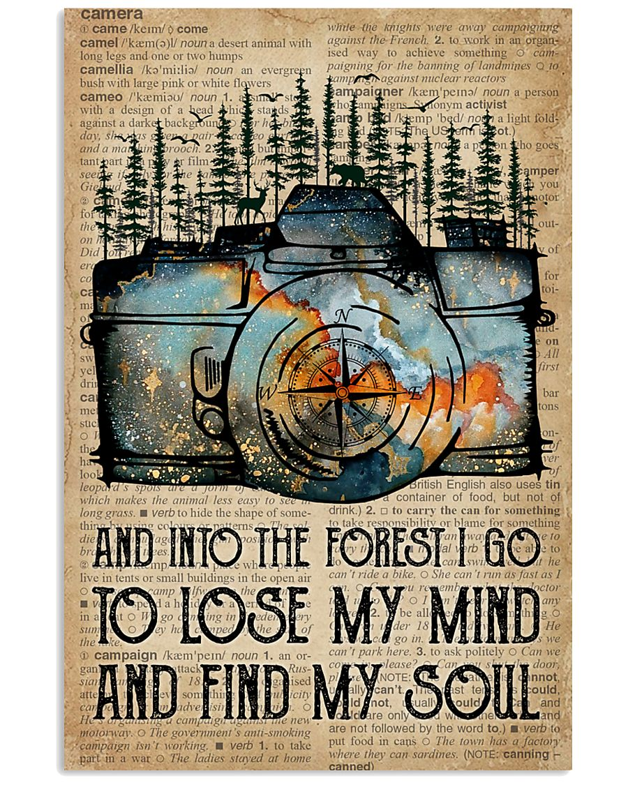 Blue Earth Dictionary Find My Soul Camera 11x17 Poster