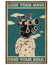 Retro Teal Lose Your Mind Camera Head 11x17 Poster front