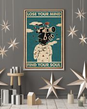 Retro Teal Lose Your Mind Camera Head 11x17 Poster lifestyle-holiday-poster-1