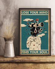 Retro Teal Lose Your Mind Camera Head 11x17 Poster lifestyle-poster-3