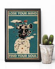 Retro Teal Lose Your Mind Camera Head 11x17 Poster lifestyle-poster-8