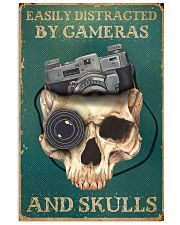 Retro Teal Easily Distracted By Cameras And Skulls 11x17 Poster front