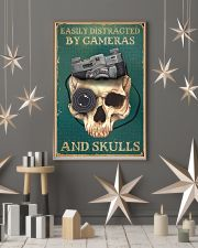 Retro Teal Easily Distracted By Cameras And Skulls 11x17 Poster lifestyle-holiday-poster-1