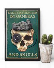 Retro Teal Easily Distracted By Cameras And Skulls 11x17 Poster lifestyle-poster-8