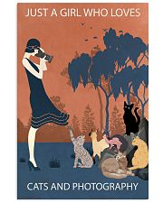 Vintage Girl Loves Cats And Photography 11x17 Poster front