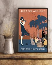 Vintage Girl Loves Cats And Photography 11x17 Poster lifestyle-poster-3