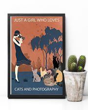 Vintage Girl Loves Cats And Photography 11x17 Poster lifestyle-poster-8